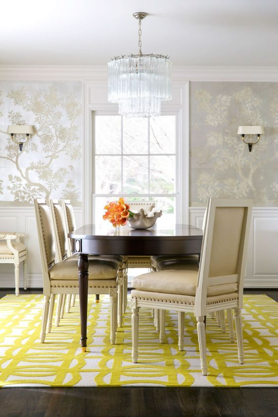 Some wallpaper ideas for your dining room decoration exclusivedesign interiordesigners diningroomdesign also how famous interior designers decorate  rh pinterest