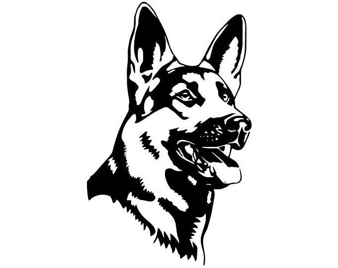 German Shepherd 109 Peeking Smiling Dog Breed K 9 Pet Police Etsy In 2021 Alsation Dogs German Shepherd Tattoo Car Stickers
