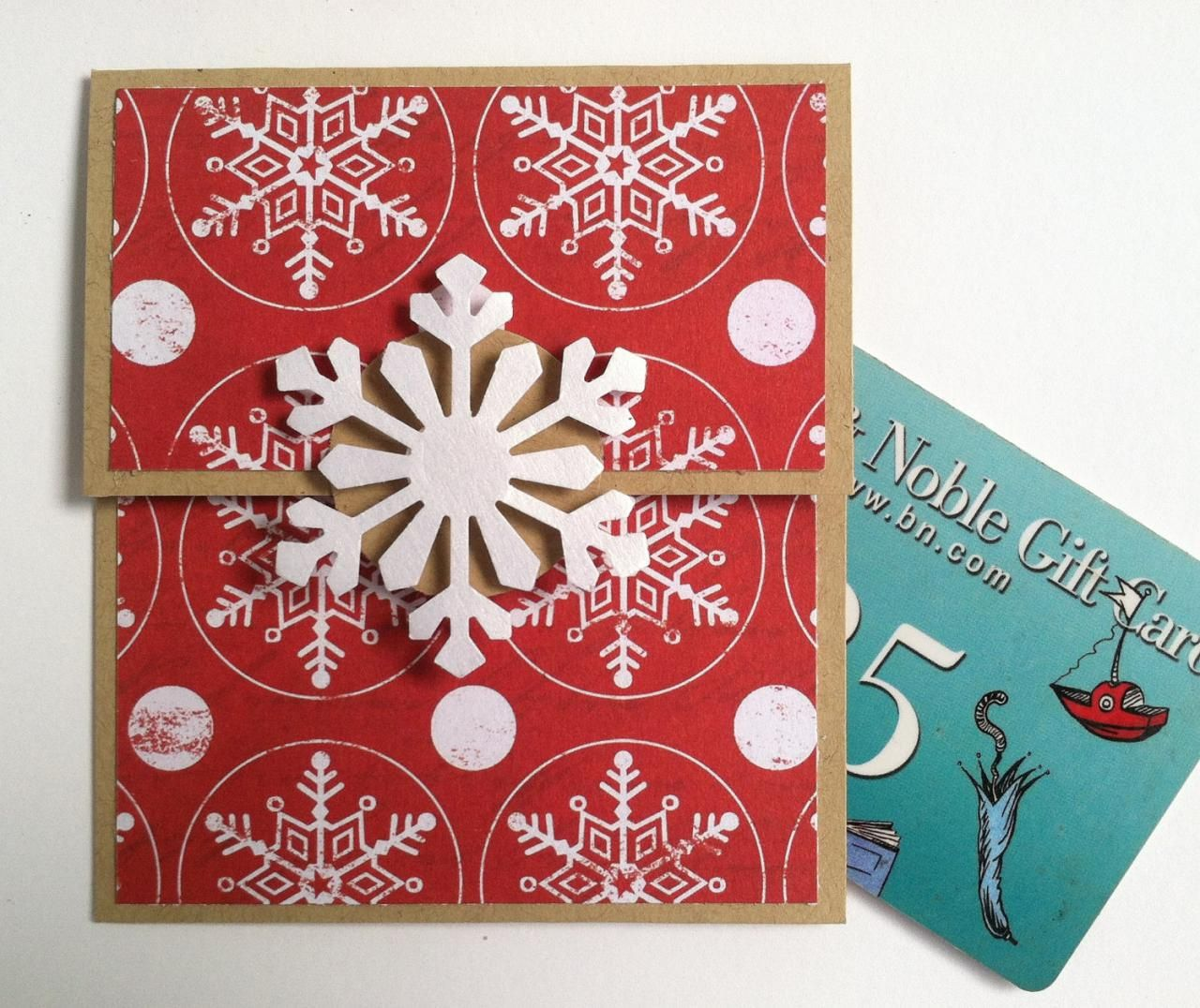 Snowflake Gift Card Holder Christmas Gift Card Holder Kraft Red And White Christmas Gift Card Holders Gift Card Holder Christmas Gift Card