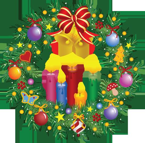 tubes christmas / flowers, mistletoe, wreaths
