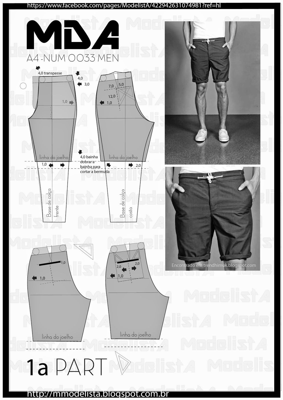 ModelistA: A4 - NUM 0033 MEN SHORTS Part 1 (Maybe I can make DH some awesome shorts that won't fall apart as readily as those store-bought ones do.)