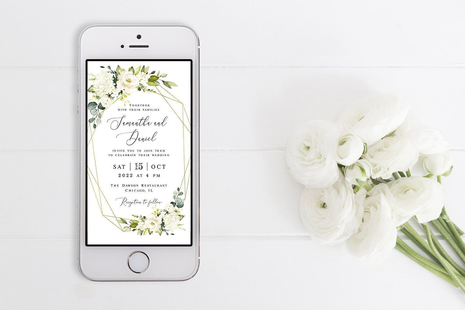 Electronic invitation template Fully editable Wedding