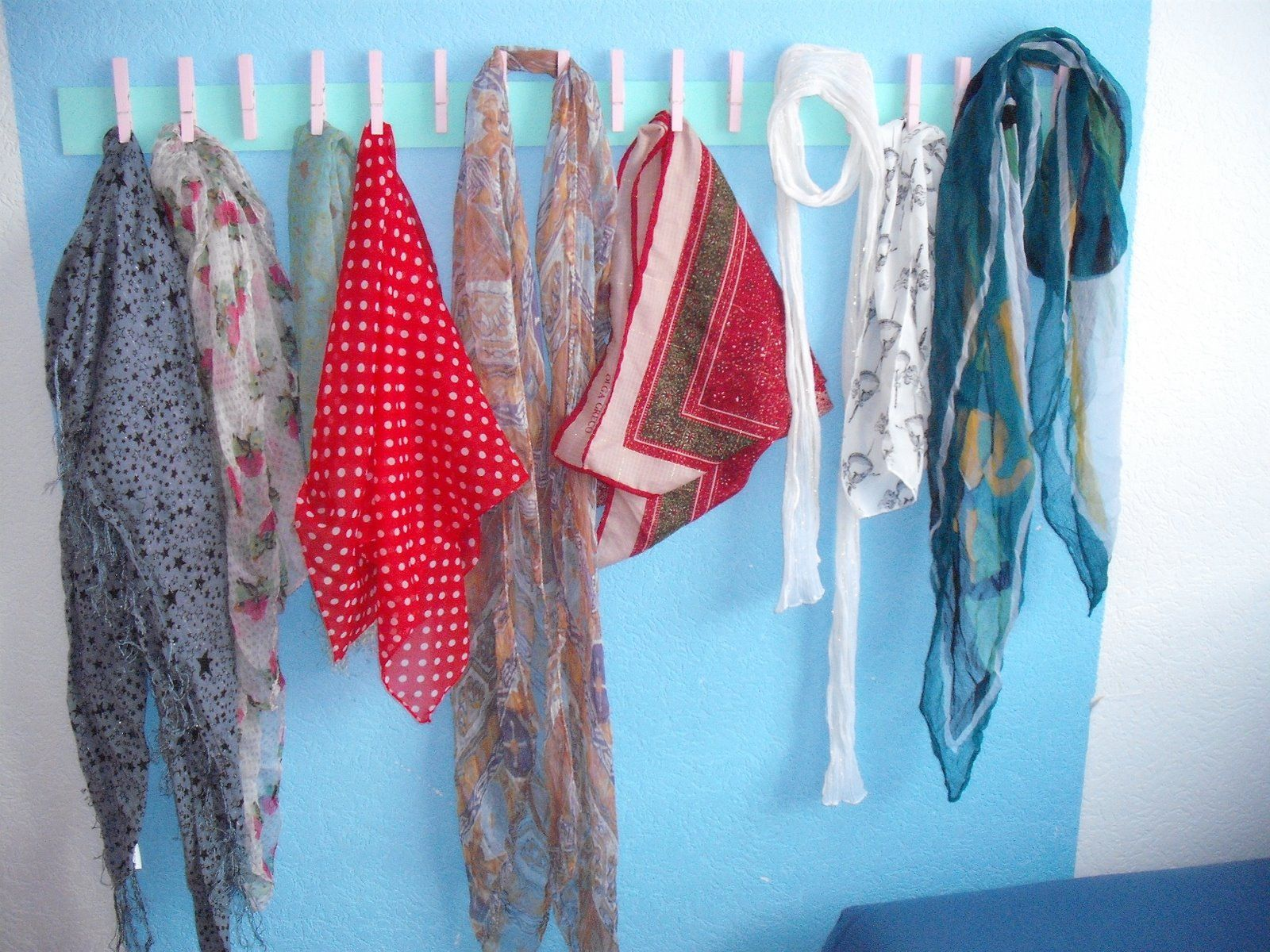 Schal-Aufbewahrung - Super Idee!!! | Wohnung | Pinterest | Schals ...