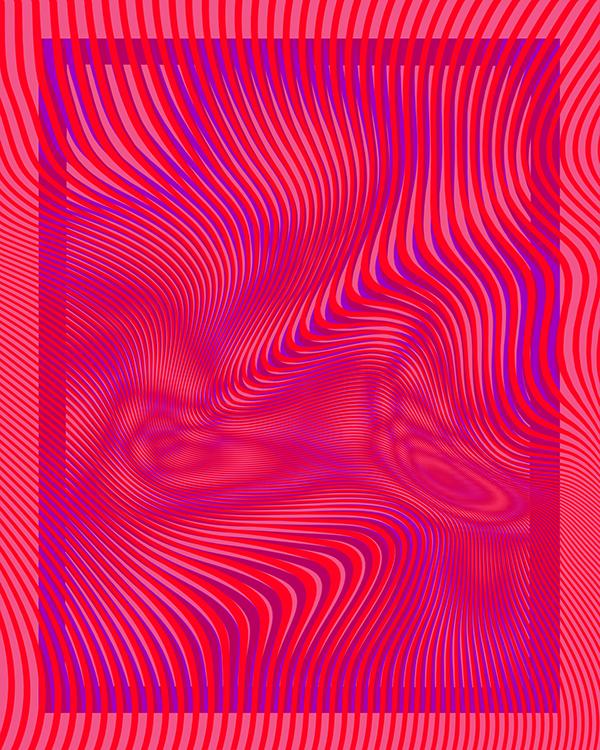 Annabella 67 Art Line Design : Moire psychedelia  keywords trippy psychedelic