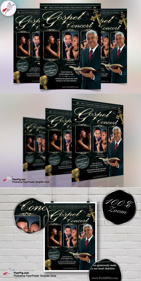 Church Flyer V1 Flyer Template Template And Gospel Concert