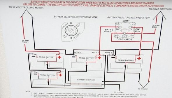 sailboat battery wiring diagram