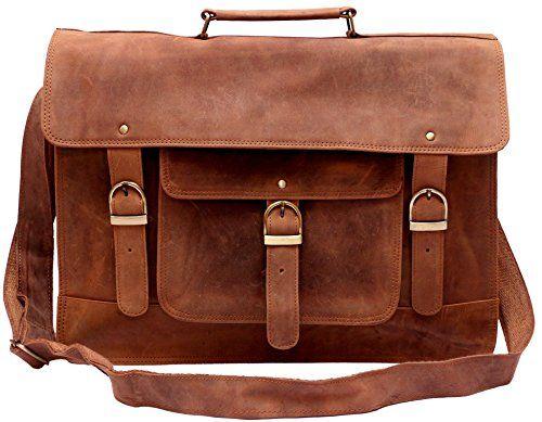b41c9e742a5 Bag · Feather Feel Large Leather Satchel Briefcase 18 Laptop Messenger  Shoulder ...