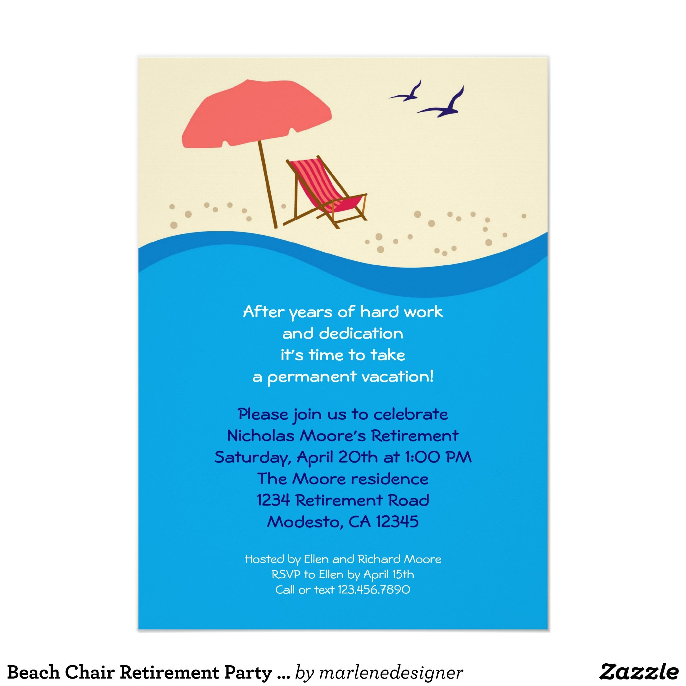 beach themed retirement party ideas Google Search – Beach Themed Party Invitations