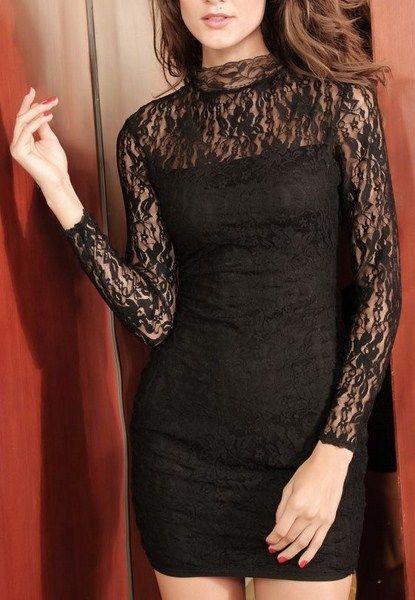 Čipkované šaty Eva - čierne D  2470e00a604