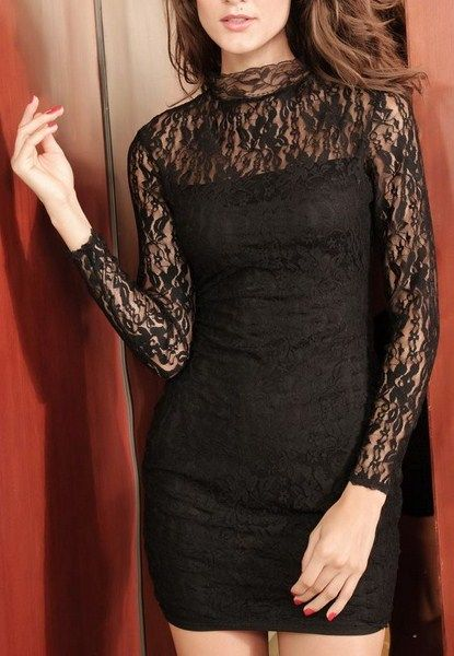 7489c597d7ec Čipkované šaty Eva - čierne D