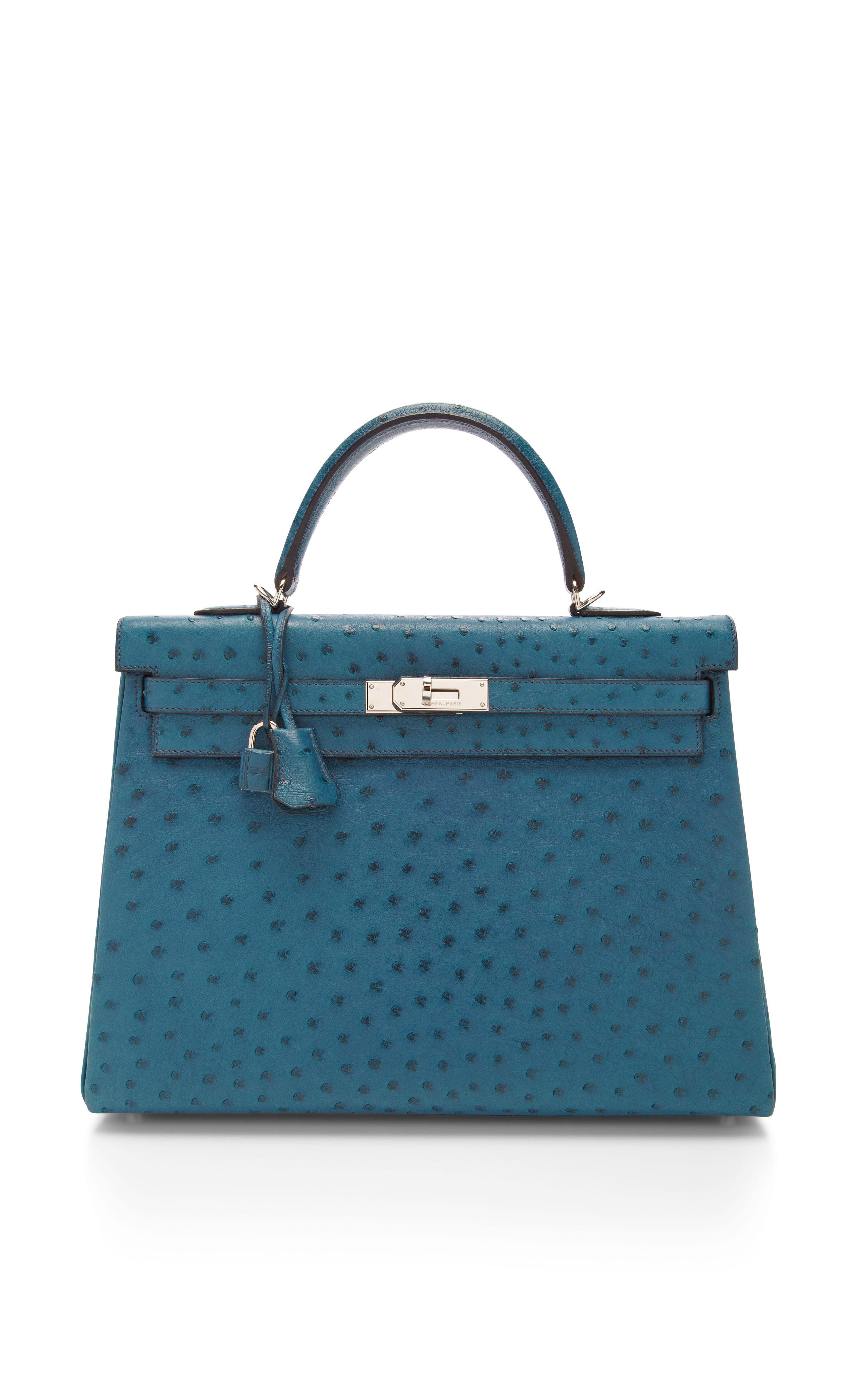 Heritage Auctions Special Collections Hermes 35cm Cobalt Blue Ostrich  Retourne Kelly in Blue (Cobalt Blue)  205867ad0ef1d