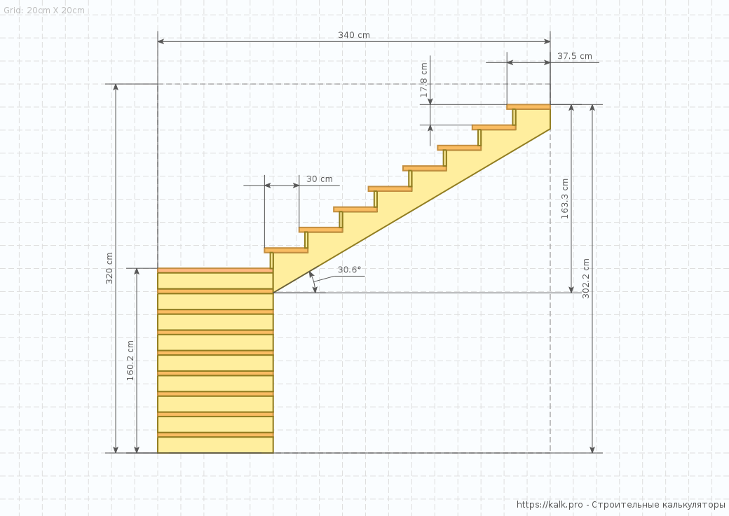 Ladder Drawing Side View L Shaped Stairs Stair Detail Stair