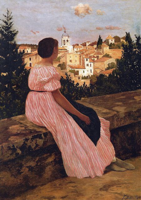 Frederic Bazille - The Pink Dress, 1864 at Musée d'Orsay Paris France | Flickr - Photo Sharing!