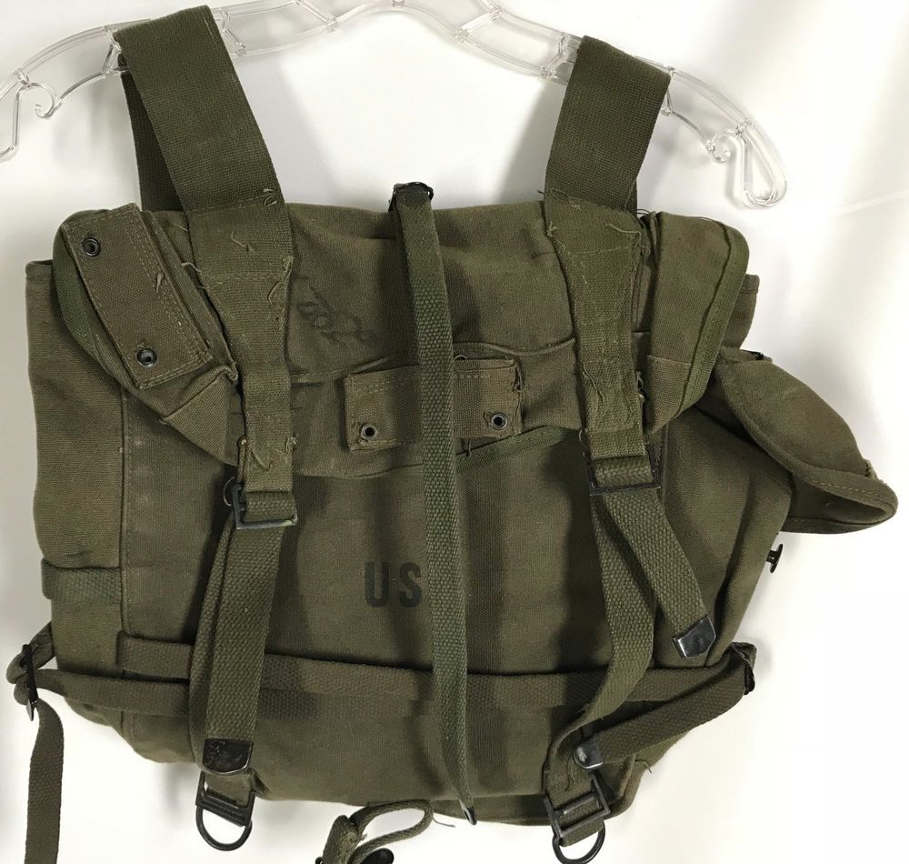 Repro Vietnam War US Army Military Canvas Field Pack Backpack Bag