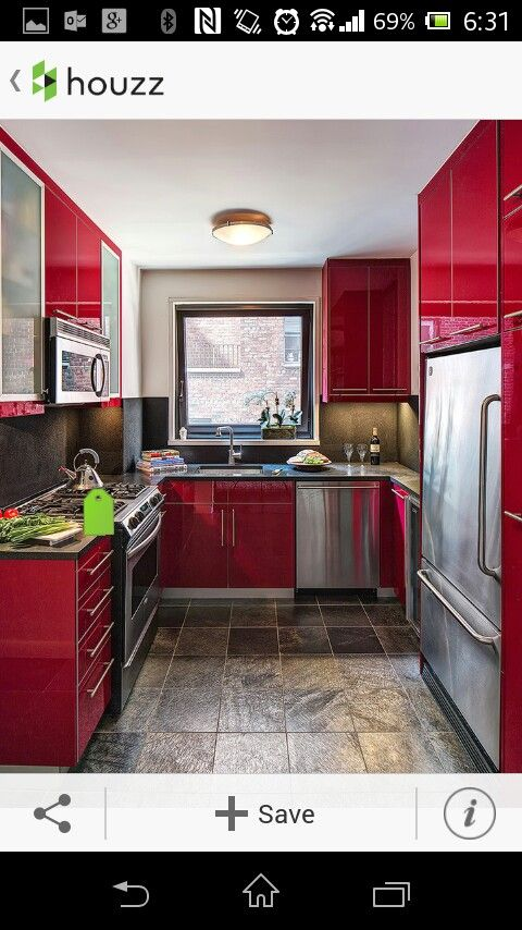 Houzz cocina roja decoración apartamento Pinterest Houzz and