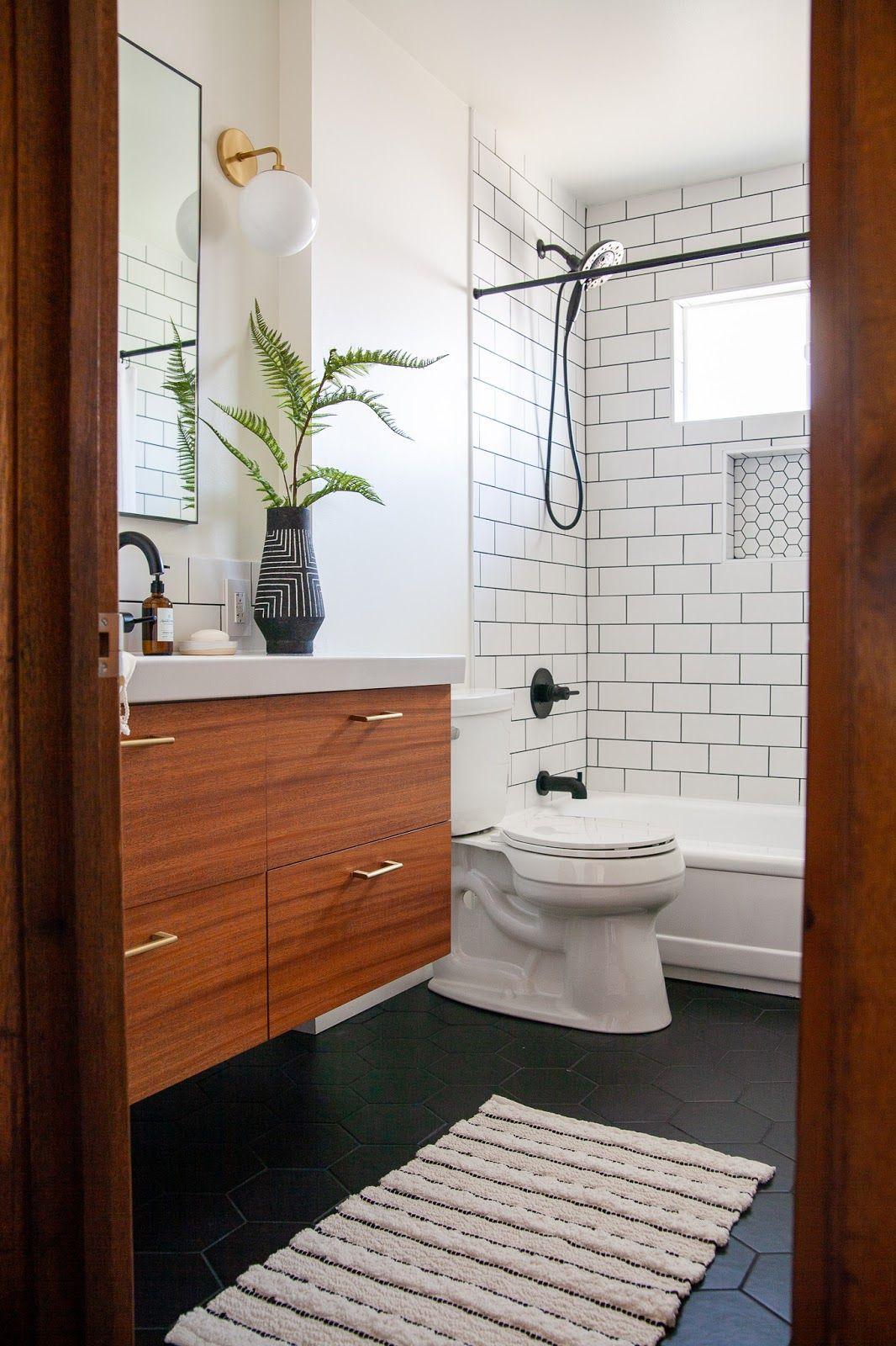 Modern bathroom renovation REVEAL: The finished One Room Challenge!