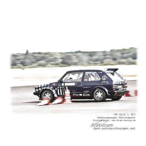 VW Golf 1 GTI-Hubersperger Motorsport #cardrawing #carporn… | Flickr