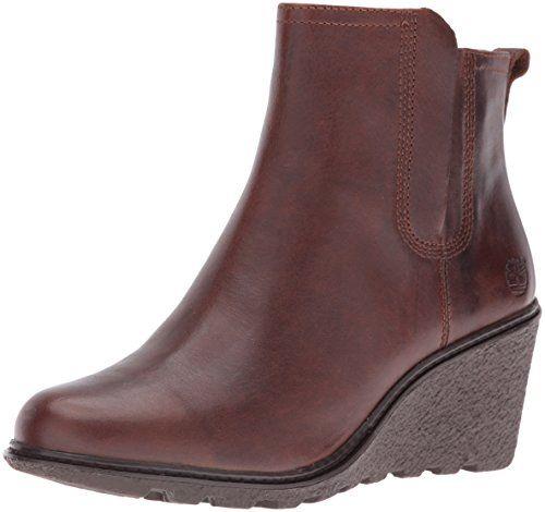 Timberland Women's Amston Chelsea Boot,Medium Brown Full Grain,8.5 M US