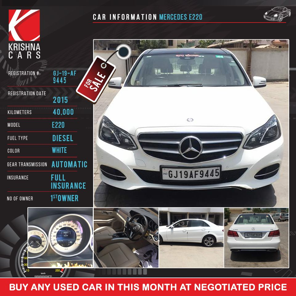 Car Information Mercedes E220 Registration Number Gj 19 Af
