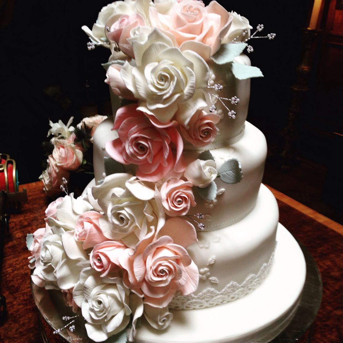 Laura and camilos cake a wonderful wedding i conducted