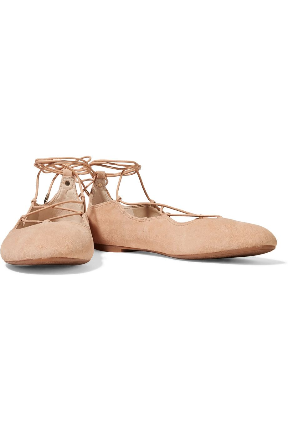 dae482c233b658 Shop on-sale Sam Edelman Gretchen lace-up suede ballet flats. Browse other  discount designer Flat Shoes   more on The Most Fashionable Fashion Outlet