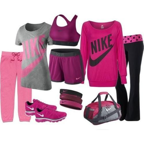 Outfit Nike Pro Cool Pink Love Pink Girls Shorts Pants Bra Sport ...