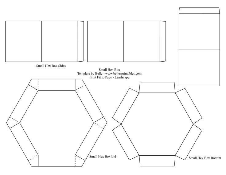 Hexagon Explosion Box Template Pesquisa Do Google Paper Box Template Box Template Printable Exploding Box Card