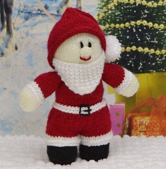 KNITTING PATTERN - Young Santa Soft Toy Knitting Pattern ...