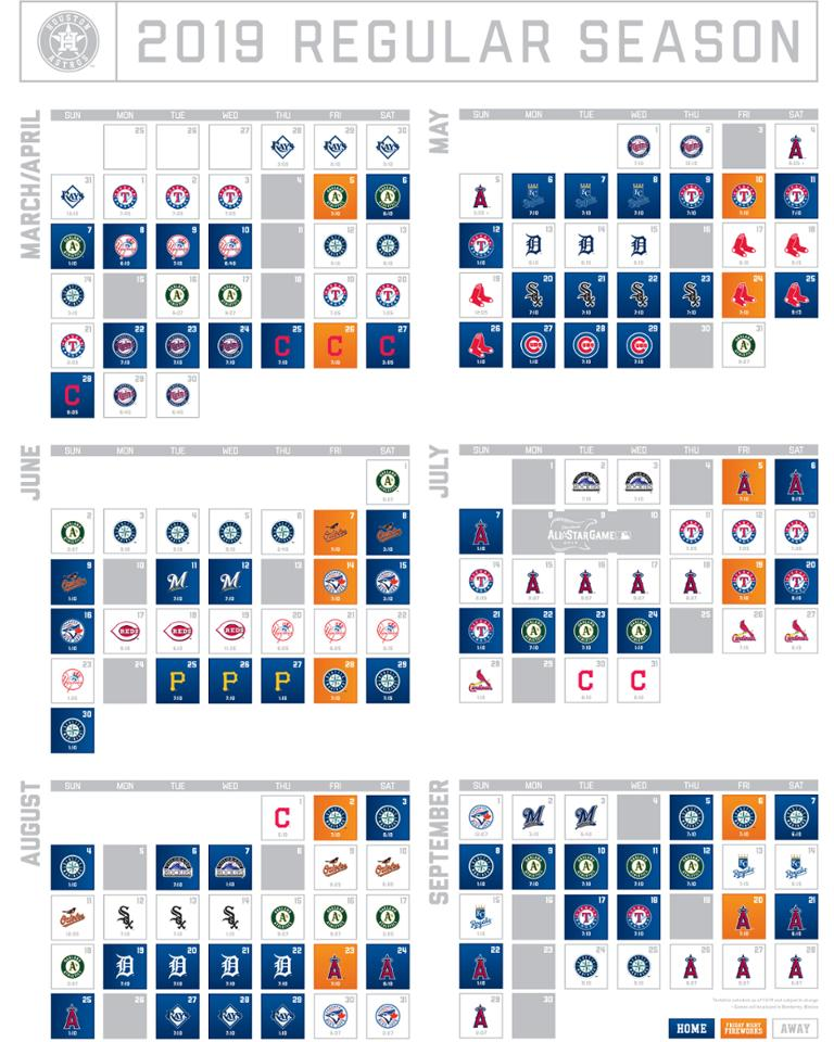 photograph about Astros Schedule Printable called Astros Printable Program Houston Astros True Estate within just