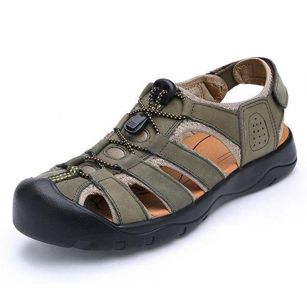 Men's RV Performance Closed Toe Sandal Color Green Size 43 M EU