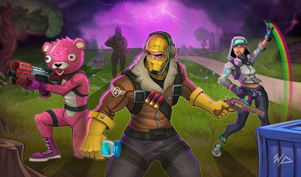 The Fantastic World Of Fortnite Art Of All The Massive Multiplayer Online Shooting Games To Come Into Existence Fortnite Art Fortnite Best Gaming Wallpapers