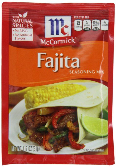 Amazon Com Mccormick Taco Seasoning 1 25 Ounce Pack Of 24 Meat Seasonings Grocery Gourmet Food Fajita Seasoning Homemade Fajita Seasoning Fajitas