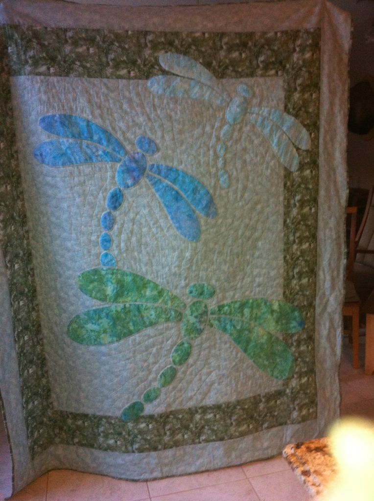 Dragonfly Quilt On The Quilting Board Quilt Dragonflies