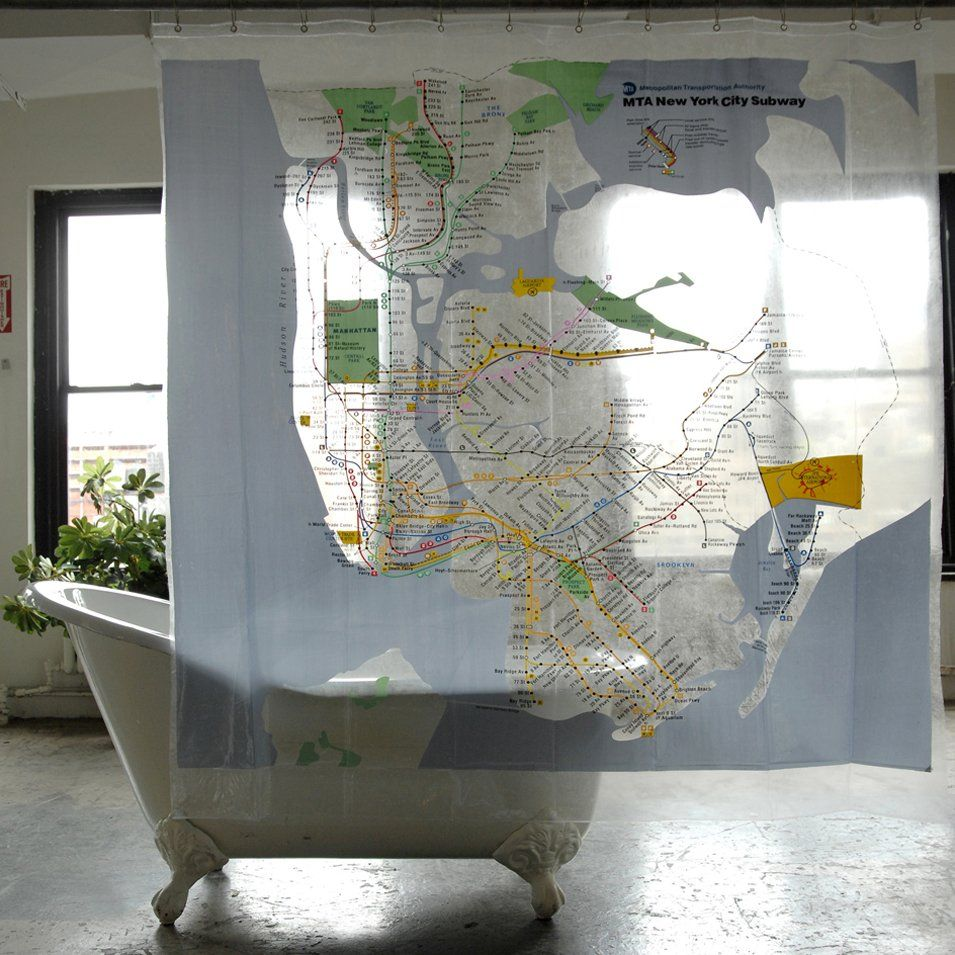 New York City Mta Shower Curtain Cool Shower Curtains Eclectic