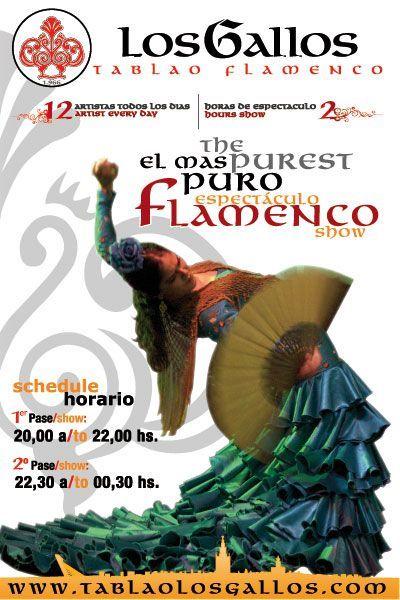 Flamenco Puro - Tablao Los Gallos. Para comprar las entradas pincha en la imagen.