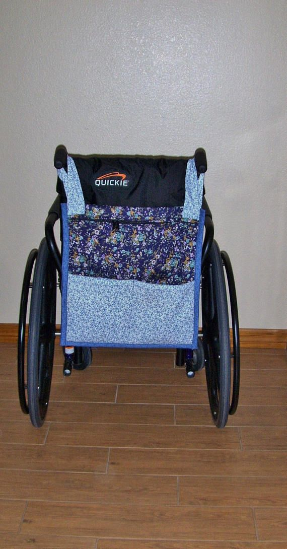 Blue Floral Prints  Zippered WheelChair Tote/Bag