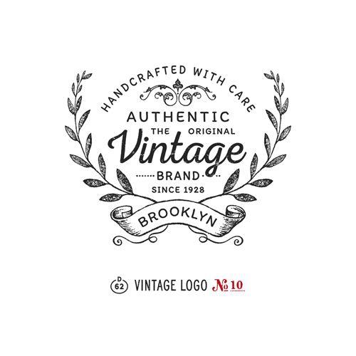 vintage logo templates vol 2 logos typography and typography design