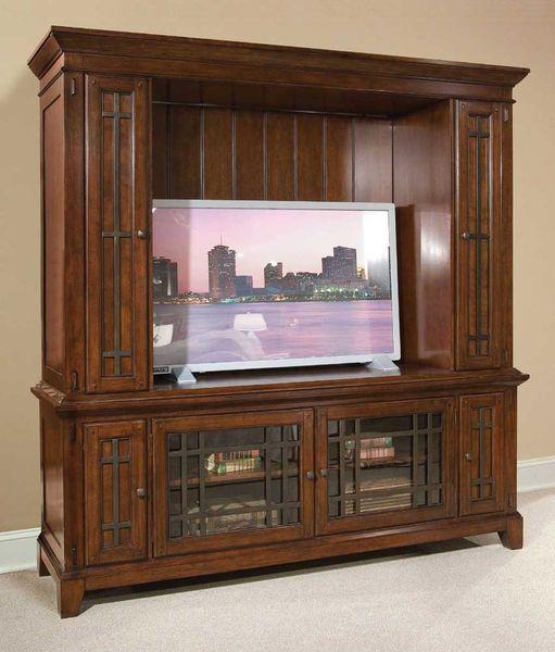 Metal Accent TV Media Furniture Console Entertainment Center