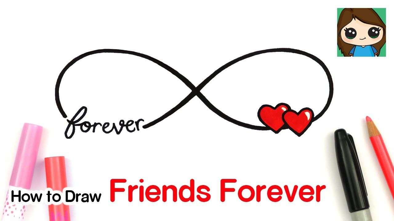 How to Draw Friends Forever Infinity Loop Heart Symbol #5 ...