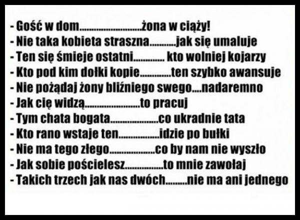 Przysłowia Polskie śmieszne śmieszne Cytaty I Zabawne Cytaty