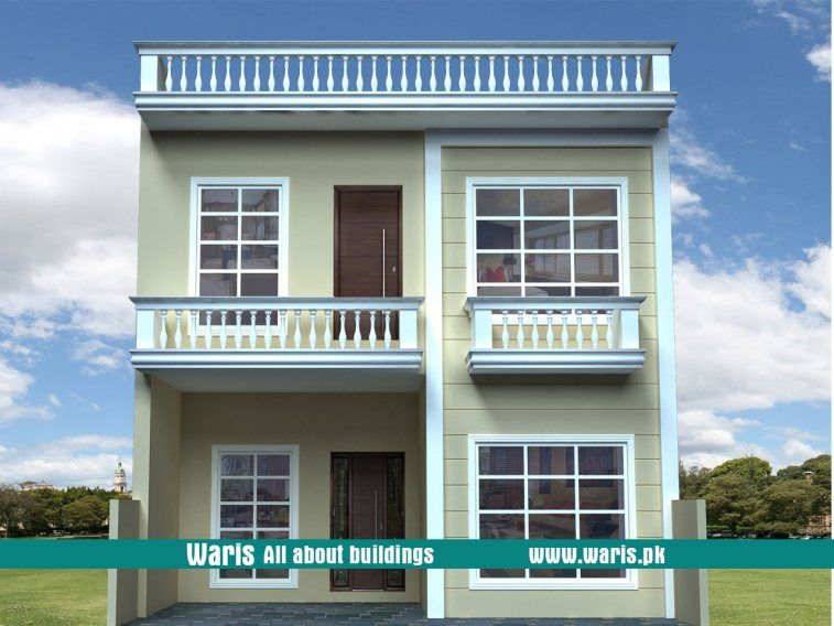 Waris House 3d View Elevation 25x40 In Islamabad Pakistan Modern Exterior House Designs House Designs Exterior Small House Design