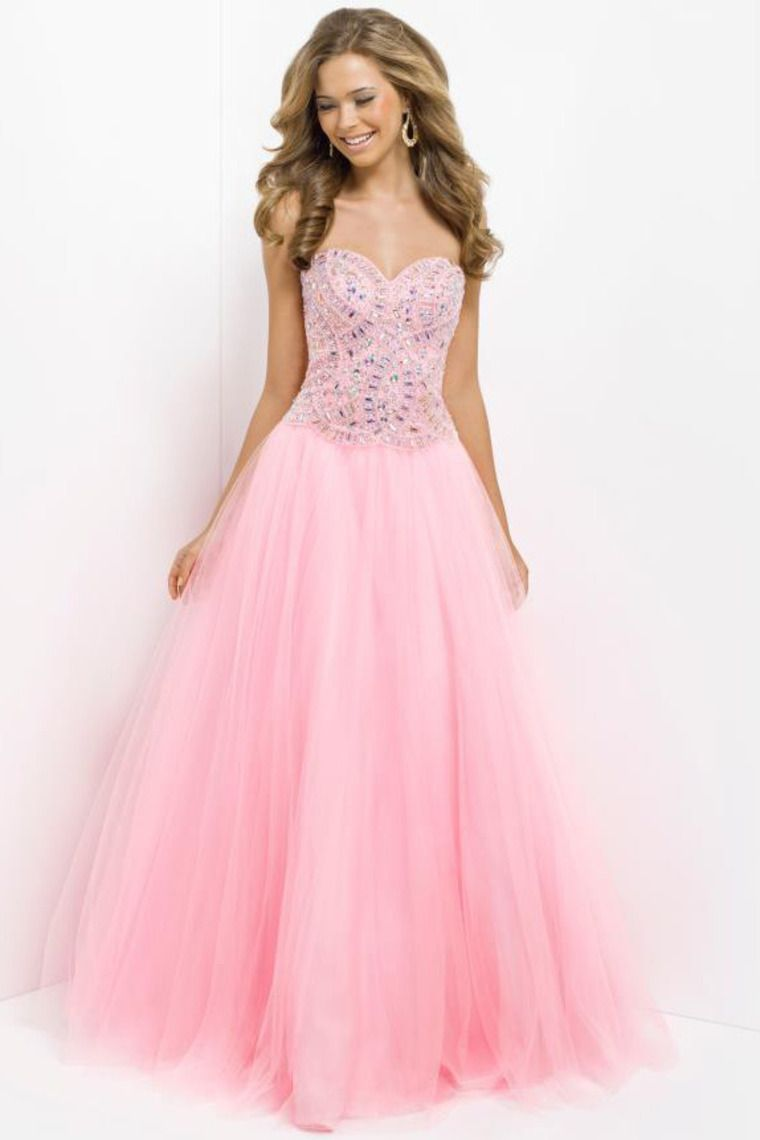 Smart Prom Dresses Princess/A Line Floor Length With Rhinestone ...