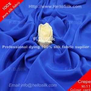 http://www.silkfabricwholesale.com/14mm-silk-crepe-de-chine-fabric-royal-blue.html   F.D. silk most professional 14mm silk crepe de chine fabric-royal blue supplier.