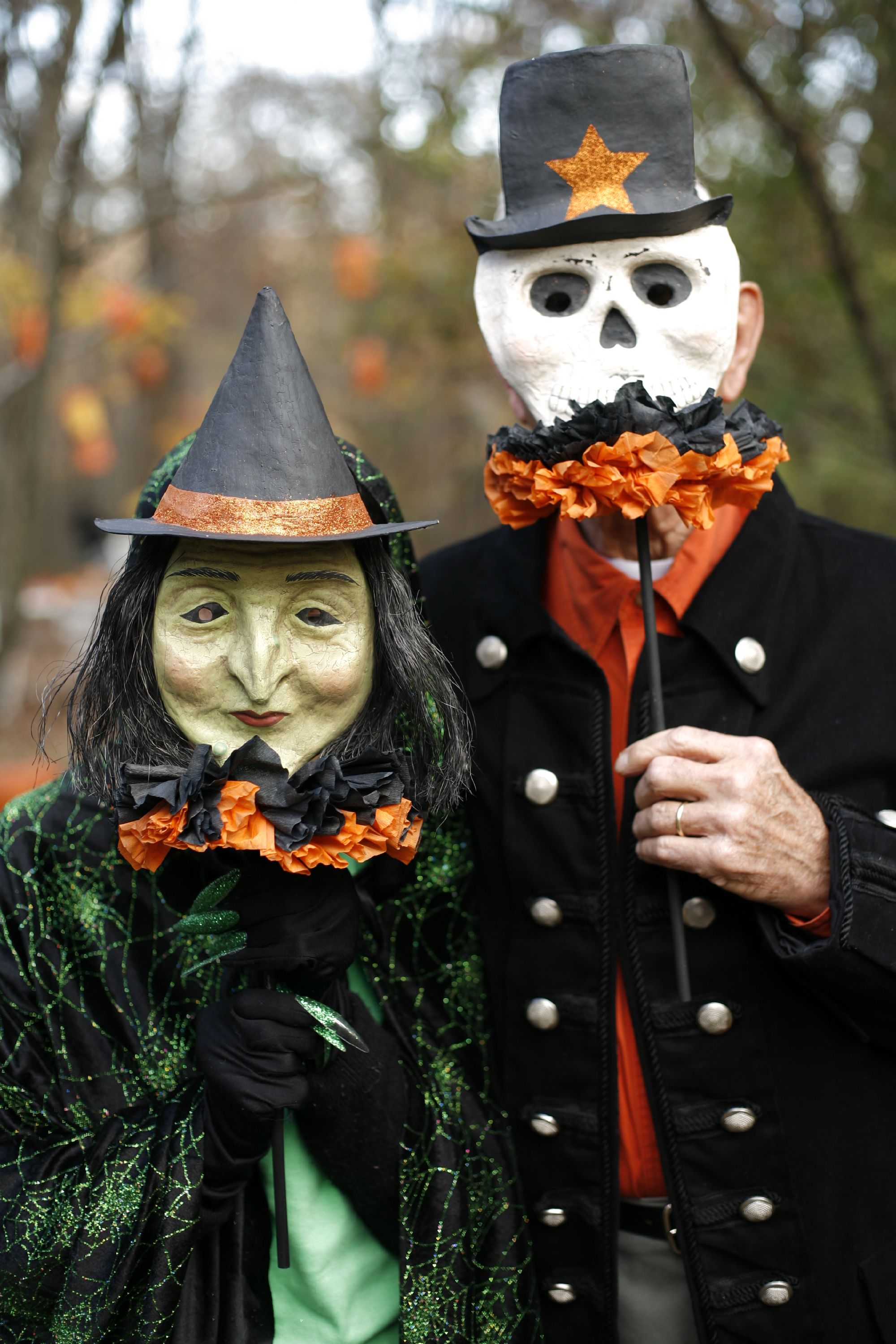 Old Fashioned Halloween Costumes At A Halloween Party In The