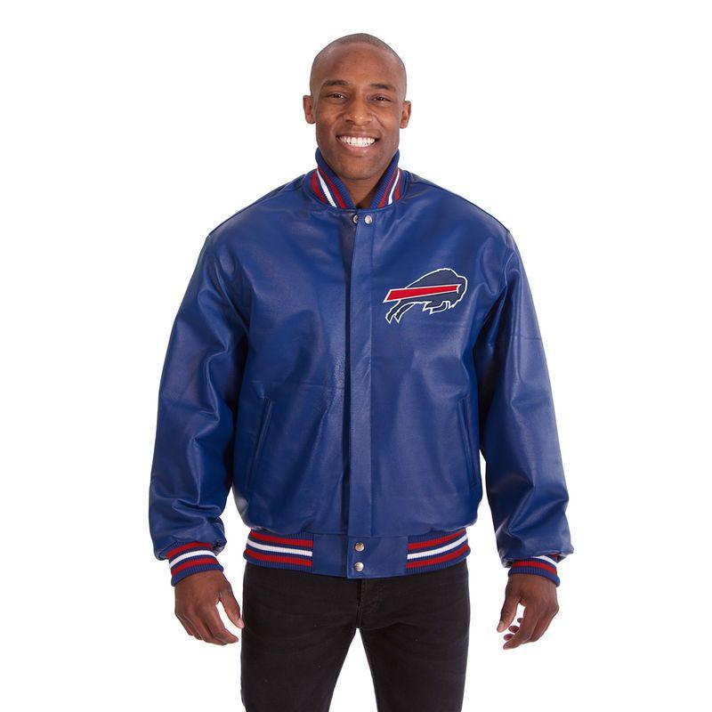 8cb4110e0d5 Buffalo Bills JH Design Leather Jacket - Royal