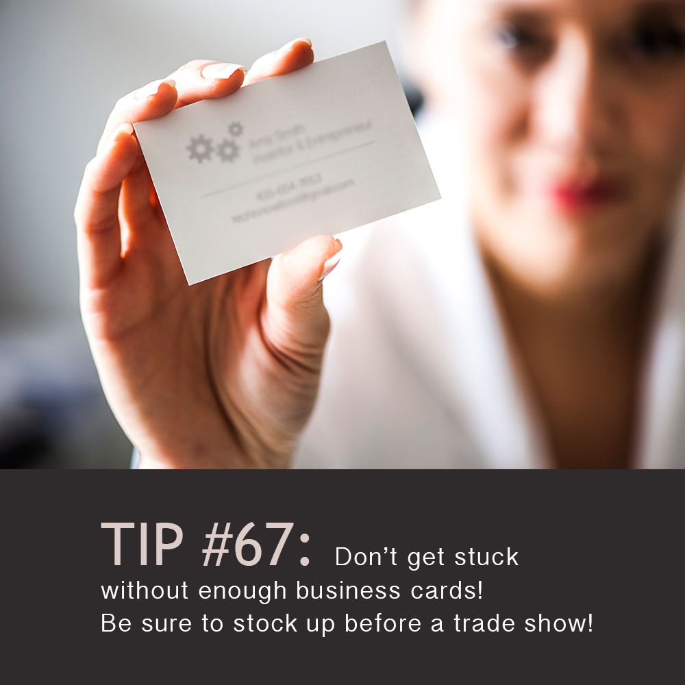 Networking is important! #TodaysTip #TradeShowTip