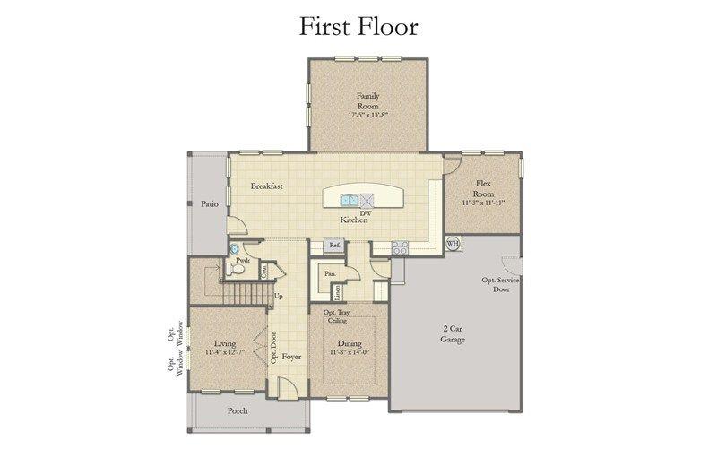 Stonefield Home Plan By Dan Ryan Builders In Mare S Head Garage Windows House Plans Living Room Loft