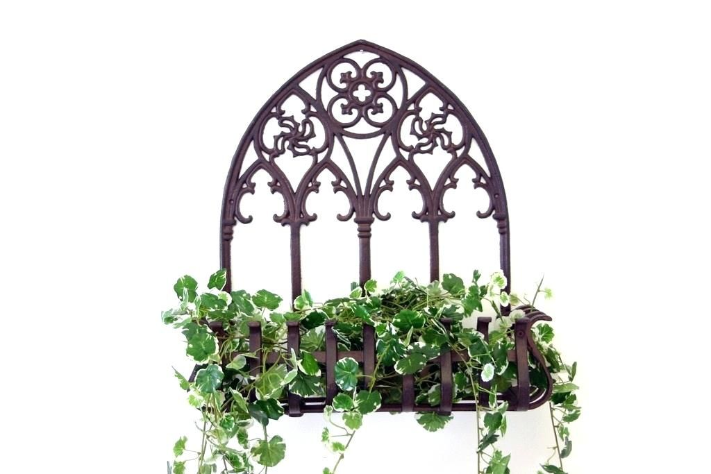 Metal Plant Holders For Walls Glamorous Outdoor Wall Planters
