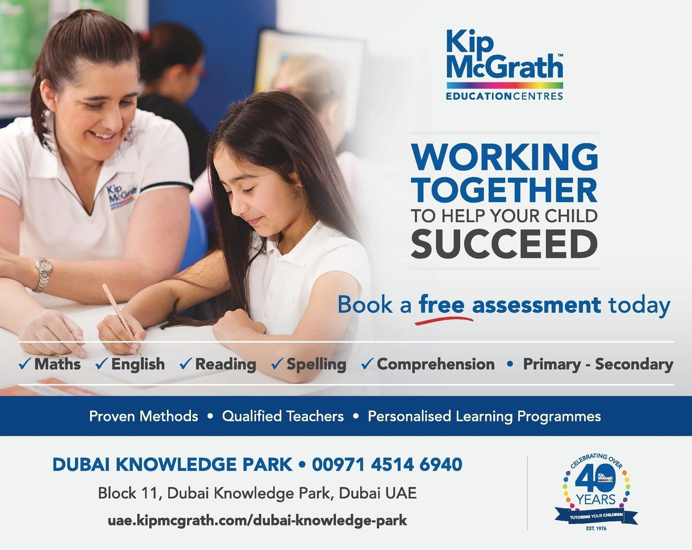 Kip Mcgrath Education Centre Dubai Currently Offers A Back To
