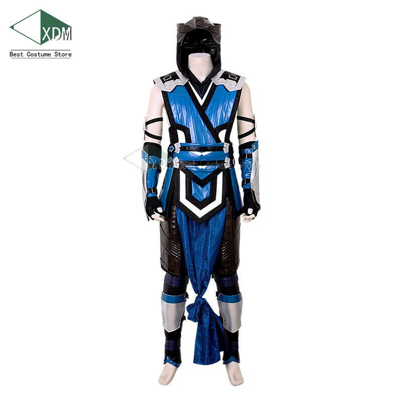Mortal Kombat 11 Scorpion Cosplay Costume Mask MK 11 Belt Game Halloween Props